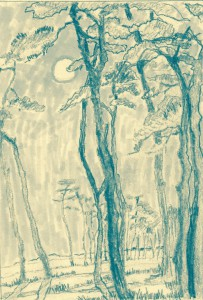 Monoprint: THE WOODS